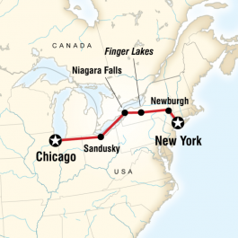 New York to Chicago - Route Map