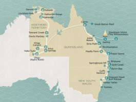 Grand Aussie tour map