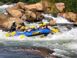 White water rafting down the River Nile