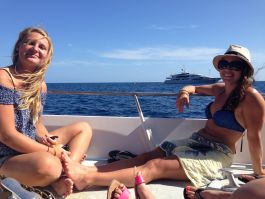 Enjoying our boat ride to Capri