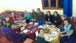 Share dinner with families and fellow travellers