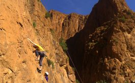 Rock climbing experience in Todra gorge