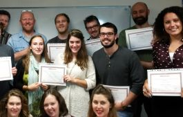 Trainees  with certificates!