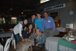 Volunteers with rescued kangaroo