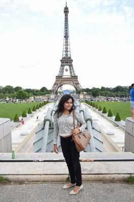 Kiran exploring Paris